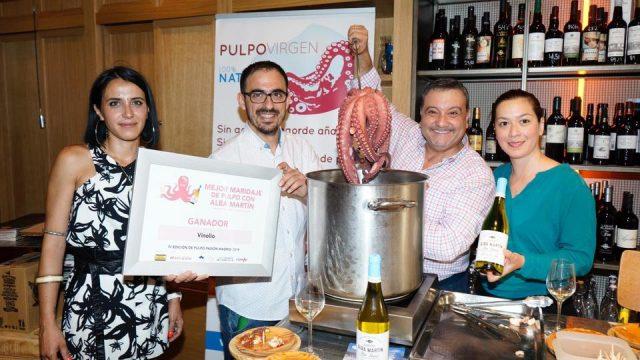 Vinolio ganador mejor maridaje de IV edición Pulpo Pasión